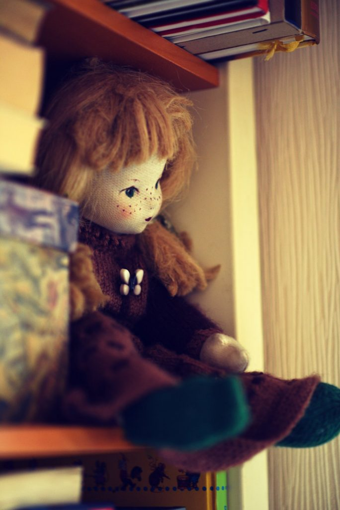 Nachdenklich Puppe
