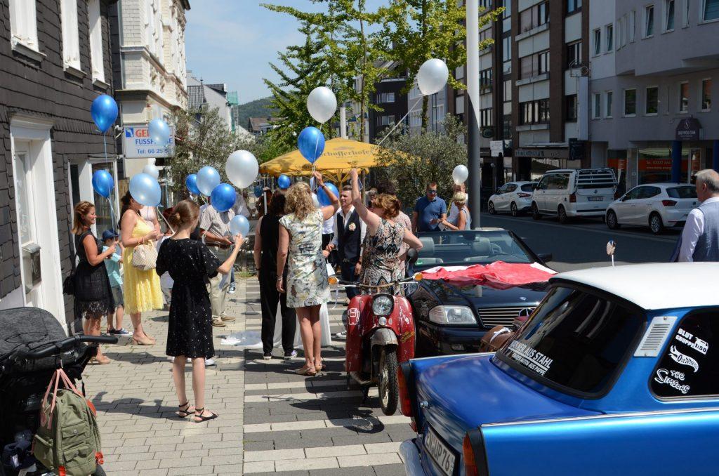 Gevelsberg Hochzeit gesperrt Bürgersteig