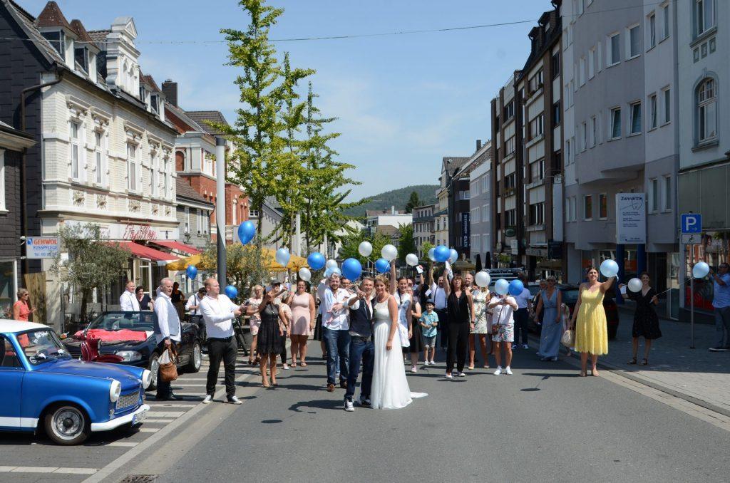 Gevelsberg Hochzeit gesperrt Ballons