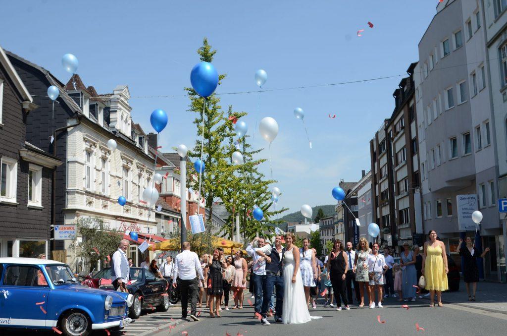 Gevelsberg Hochzeit gesperrt Freude