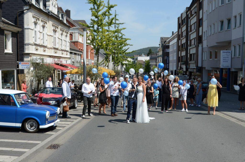 Gevelsberg Hochzeit gesperrt Strasse