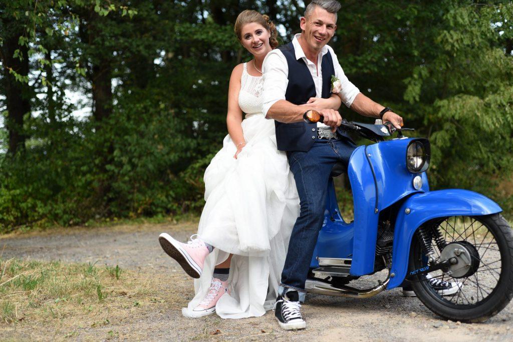 Simson Hochzeit auf einer