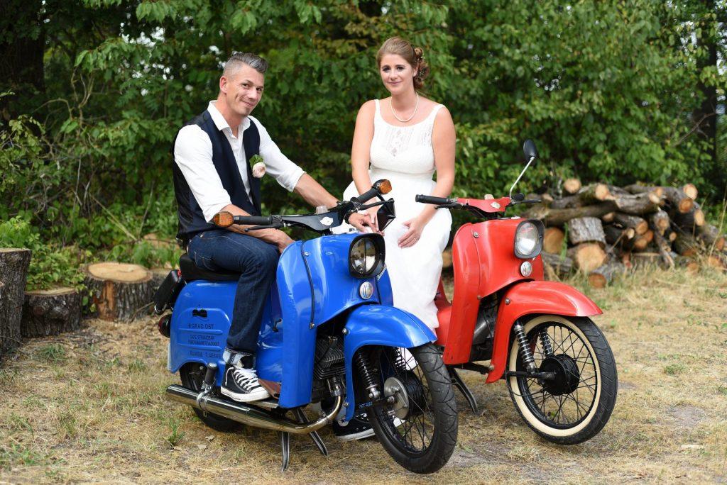 Simson Hochzeit blau rot