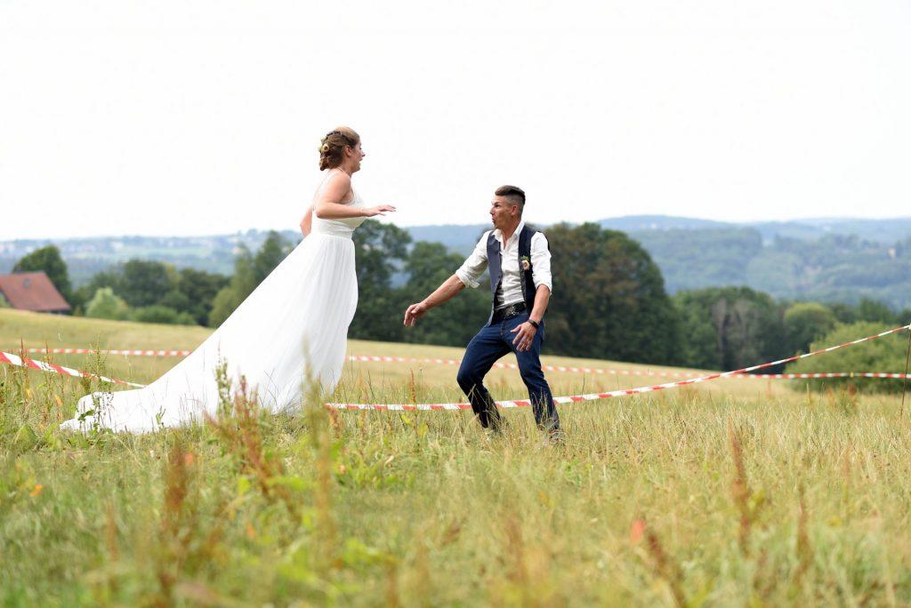 Wiese Hochzeit anlauf